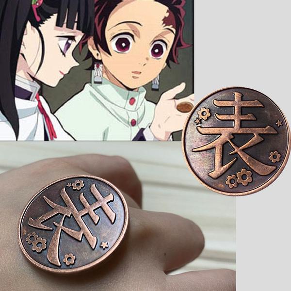 Tsuyuri Kanawo Kochou Shinobu Demon Slayer Kimetsu No Yaiba Coin Cospay Prop