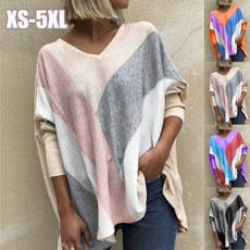 blouse, sleeve v-neck, Plus Size, Winter