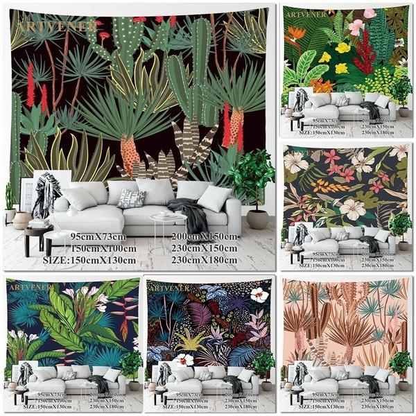 Plants, art, mandalatapestry, tapestryhippie