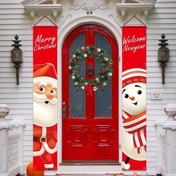 snowmandecoration, decoration, newyearsupplie, Door