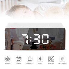 mirroralarmclock, led, usb, Led Clock