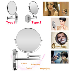 Makeup Mirrors, Foldable, Bathroom, wallmirror