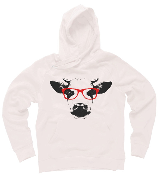 Hoodies, Fashion, Animal, cow