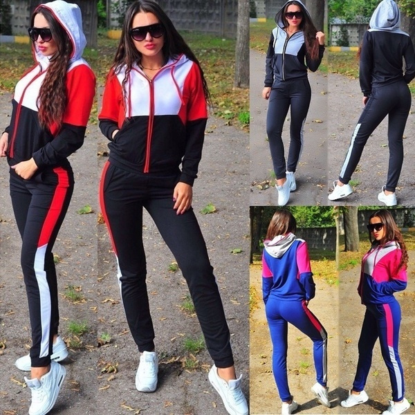 Women's tracksuit, knitted, Women's Fashion, Two Pieces
