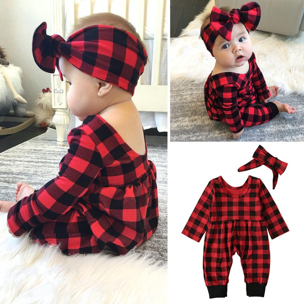 Baby Girl, plaid, Outfits & Sets, Long sleeved