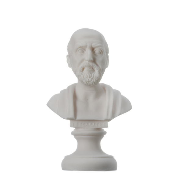 Statue, alabaster, ko, hippocratesofko