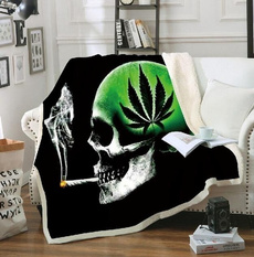 airconditioningblanket, Fleece, sofablanket, skull