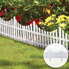 Flowers, Garden, fence, plasticfence