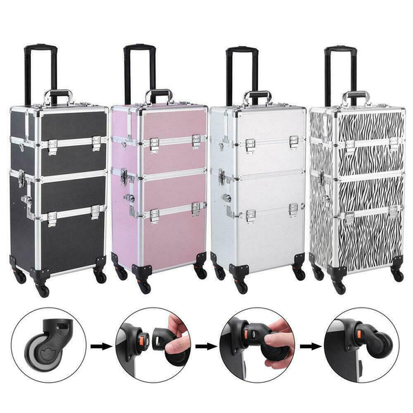 3in1cosmeticorganizer, case, trolleymakeupcase, Aluminum