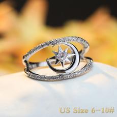 Couple Rings, Sterling, DIAMOND, Star