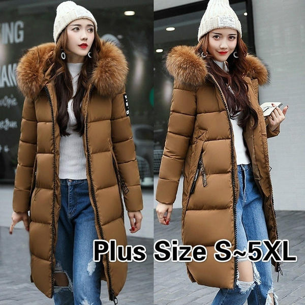 Down Jacket, Plus Size, fur, winter coat