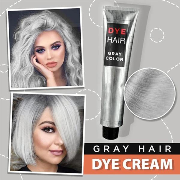 Gray, hairstyle, Fashion, dyehaircream