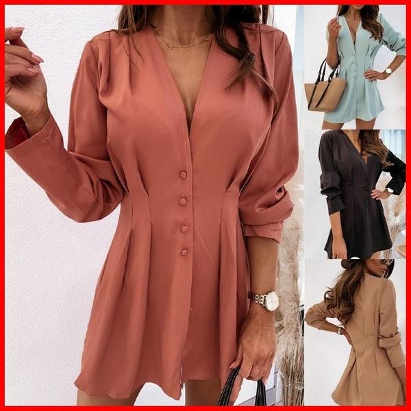 blouse, sleeve v-neck, Fashion, office dress