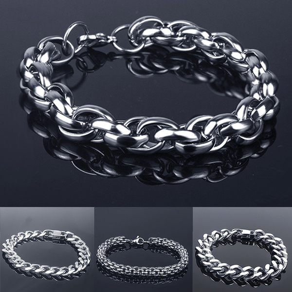 Steel, Stainless, Silver Jewelry, Men