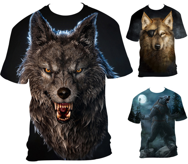 wolfmentshirt, Printed T Shirts, Shirt, Summer