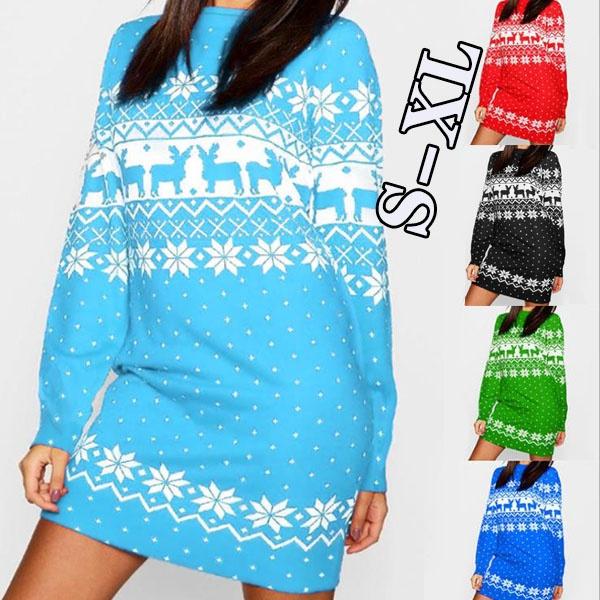 Plus Size, Cosplay, Christmas, Long Sleeve