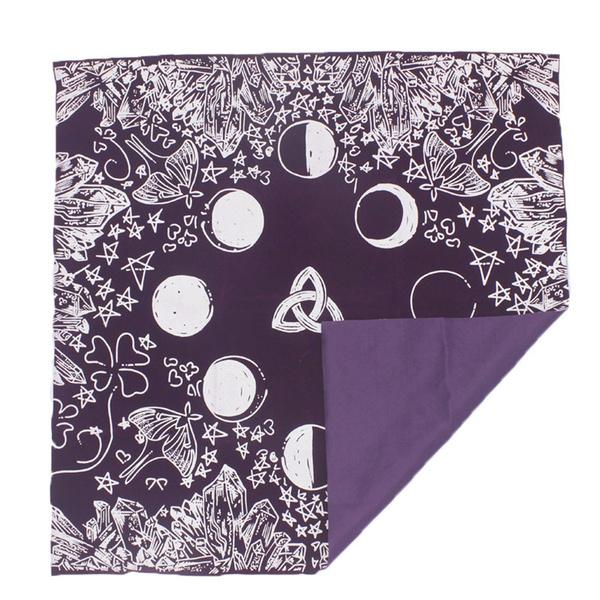 tarotcloth, altartablecloth, altarcloth, Moon