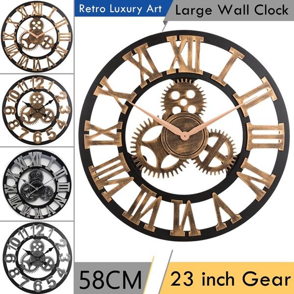 Decor, living room, 3dwallclock, Clock