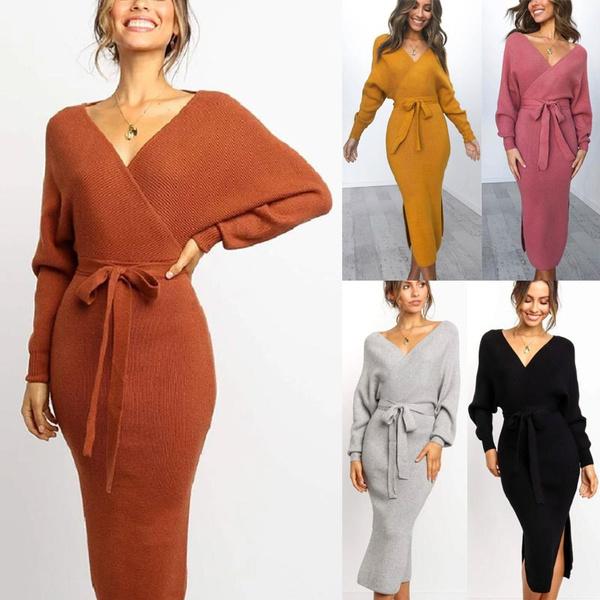 Plus Size, sweater dress, long dress, Dress
