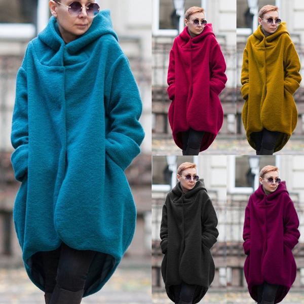 Women, cardigan, hooded, Winter