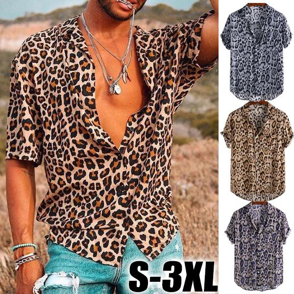 Summer, Plus Size, leopard print, Men