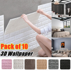 brick3dwallpanel, Decor, Home Decor, tvwallsticker