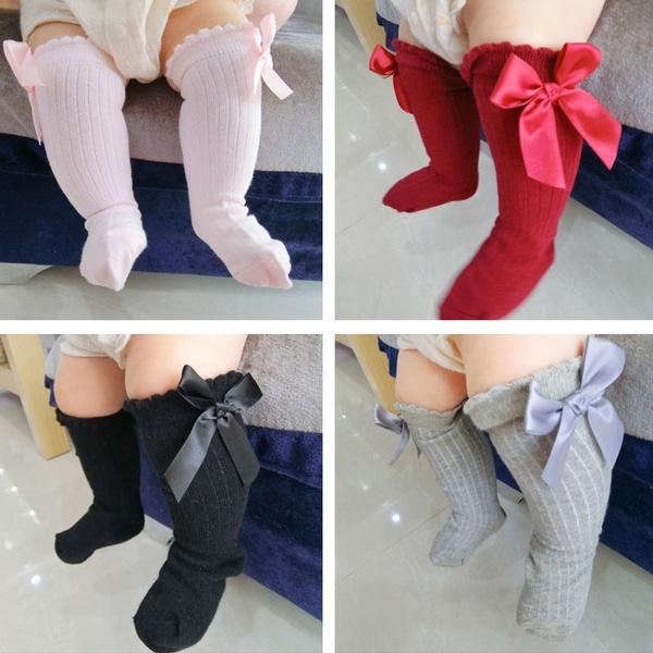 Lace, Socks, long, Bow