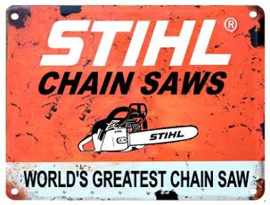 stihlchainsaw, signsdecor, Chain, Aluminum
