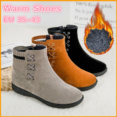 ankleampshortboot, ankle boots, Plus Size, Winter