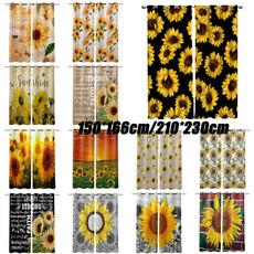 bedroomcurtain, Plants, sunflowerwindowcurtain, Sunflowers
