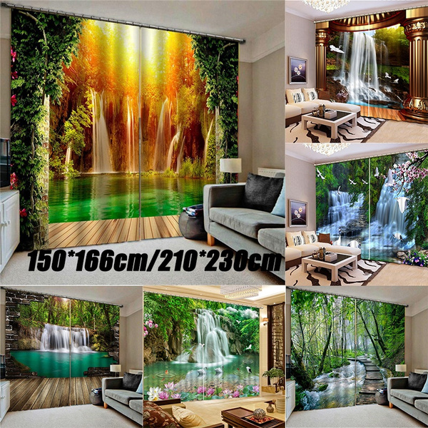 bedroomcurtain, Home & Kitchen, waterfallwindowcurtain, foresttreecurtain