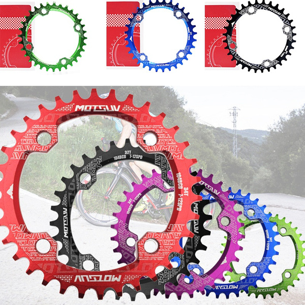 MTB Bike 104BCD Crank Chainwheel Chainring Bicycle Lightweight 32//34//36//38T