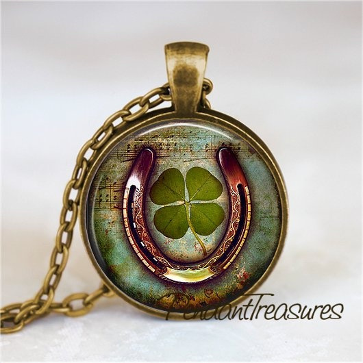Clover, leaf, Jewelry, artnecklace
