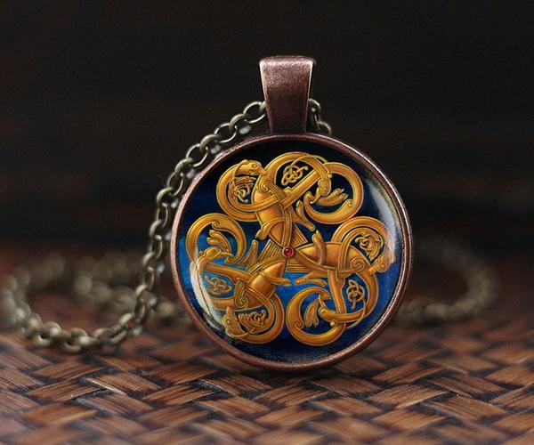 Celtic, Jewelry, artnecklace, artjewelry