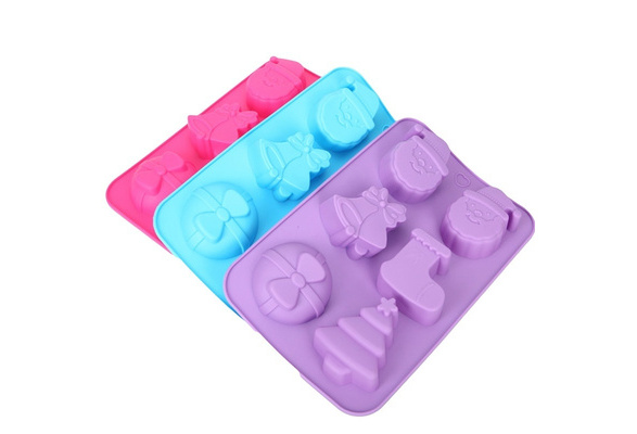 Christmas Silicone Cake Mould Chocolate Cookies Baking Soap Jelly Ice Tray