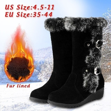Women, midcalfboot, fur, Winter