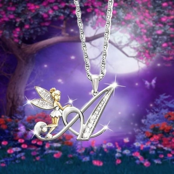 DIAMOND, Jewelry, flowerfairy, 925 silver necklace