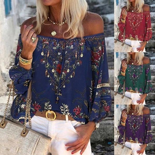 blouse, bohemia, Plus Size, bohemiaprint