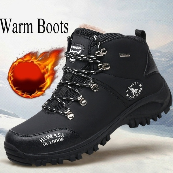 Snow Boots for Men Hiking Boots Men's Winter Warm Waterproof Boots Outdoor  Sports   Wish