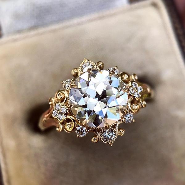 goldplated, DIAMOND, ladysring, wedding ring