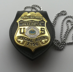 policebadge, Chain, leather, judicial