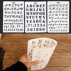 album, lettering, Decor, stencil