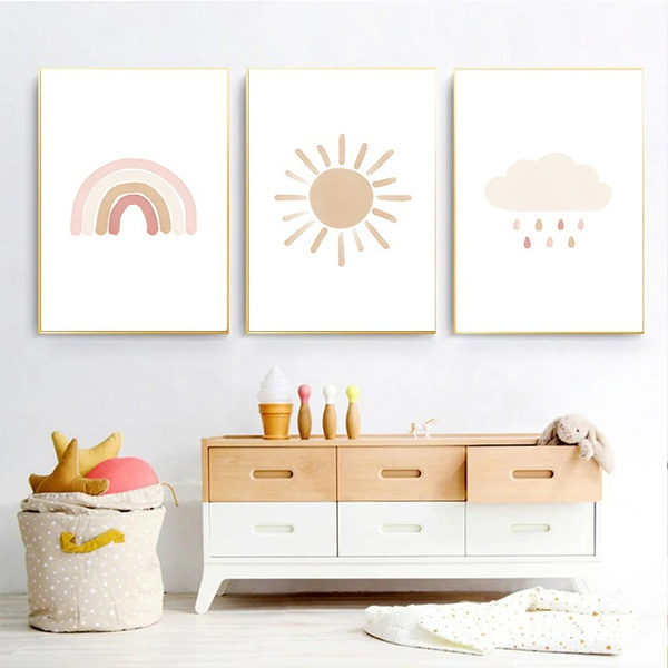 cartoonposter, neutralkindergartendecor, Decor, Canvas