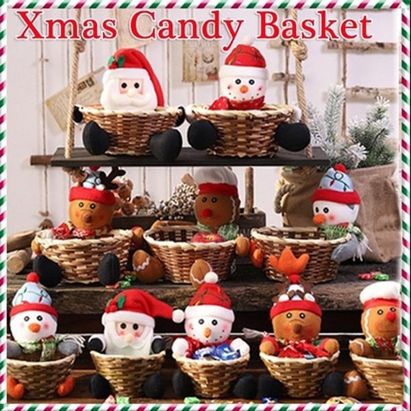 candy, Christmas, Gifts, storagebasket