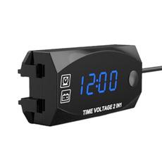 leddisplayclock, motorcycleaccessorie, voltageclock, ledvoltmeter