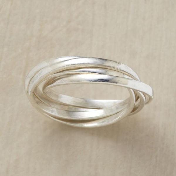 Sterling, bandring, wedding ring, Chic