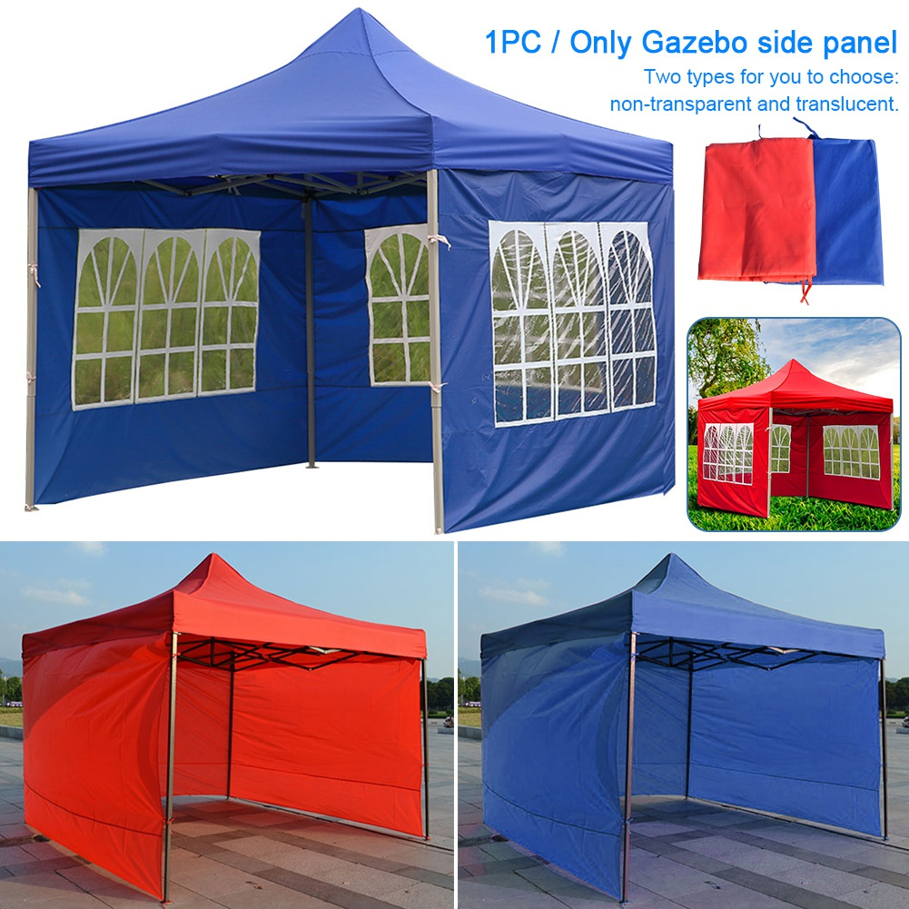 3M Gazebo Replacement Exchangeable Two SideWalls Panels with One Window Green
