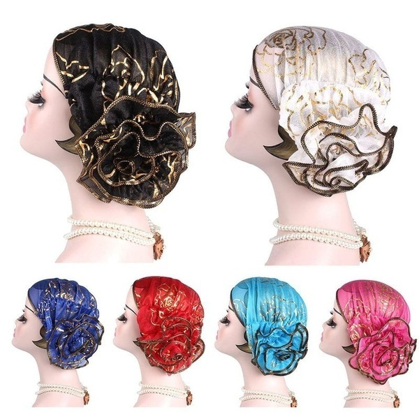 headwrapsforwomen, chemocap, Flowers, indiancap