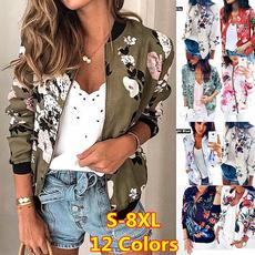 jackets for women, floraljacket, baseball jacket, Women's Fashion