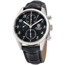 dial, tagheuercarrera, black dial, Watch